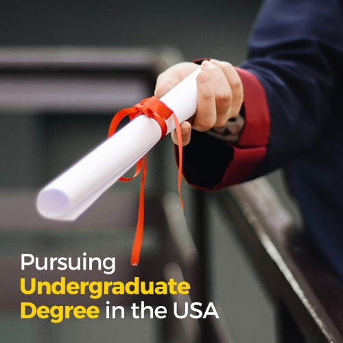 Pursuing undergraduate degree in the USA